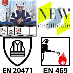 Reflective tape XM-6011 (Malta) certified to EN 20471 & EN 469 in SATRA Laboratory