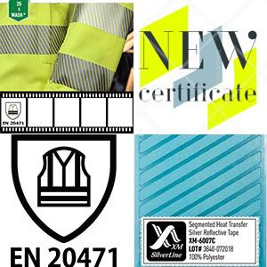 Segmented reflective tape XM-6007C is EN 20471 certified