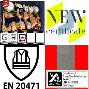 FR Reflective tape XM-6012 has been certified to EN 20471