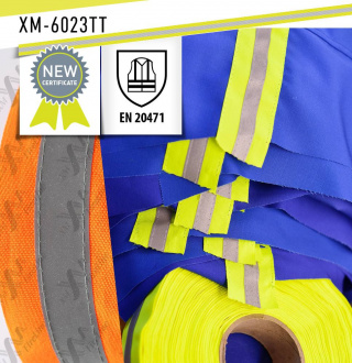 The last batch of reflective tape XM-6023TT received a certificate EN 20471 in SATRA laboratory