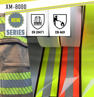 New reflective tape for FR-clothing certified to EN 469 & EN 20471 (XM-8000)