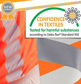 New Oeko-tex 100 Certificate for our reflective tapes